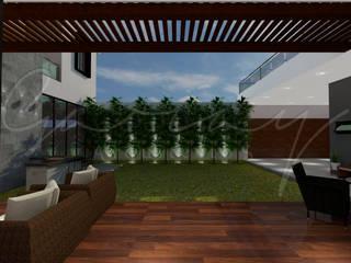 Casa Hacienda El Rosario Balcones y terrazas modernos de GARAY ARQUITECTOS Moderno