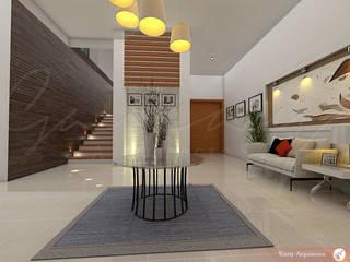Casa Fraccionamiento San Isidro Pasillos, vestíbulos y escaleras modernos de GARAY ARQUITECTOS Moderno