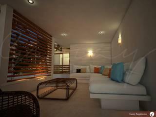 Casa Los Cocos Balcones y terrazas modernos de GARAY ARQUITECTOS Moderno