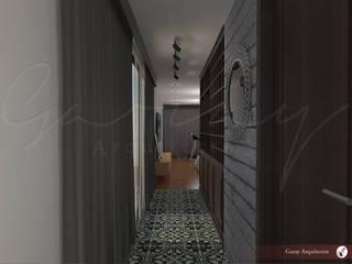 Departamento y Roof Garden Pasillos, vestíbulos y escaleras modernos de GARAY ARQUITECTOS Moderno