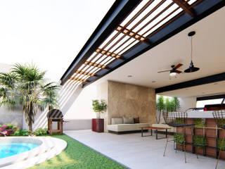 CASA CUMBRES AMÁNDALA PERUSQUÍA Balcones y terrazas modernos Concreto Multicolor