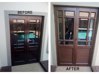 WOOD TO ALUMINIUM CONVERSION by ALUWOOD WINDOWS AND DOORS