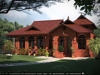 Kerala traditional house, by ARCHMOJO
