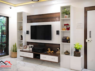 tv unit Classic style living room by Surekh Home Interior and Decoration Classic