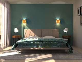 Modern style bedroom by Stefania Rastellino interior design Modern