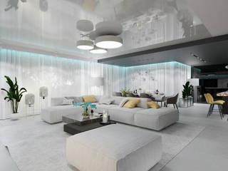ESPRESSI Nowoczesny salon od MOONFIELD STUDIO Nowoczesny
