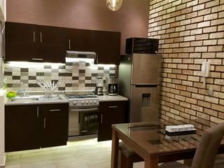 Remodelación de departamento Modena Arquitectura, S.A. de C.V. Cocinas pequeñas