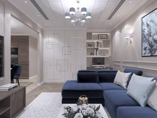 Moderne Wohnzimmer von Студия дизайна и визуализации интерьеров Ивановой Натальи. Modern