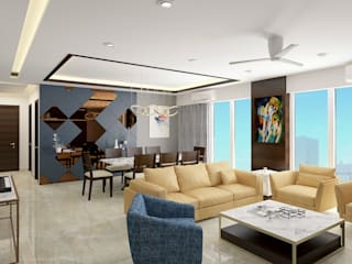 Living and Dining Modern living room by SPACE DESIGN STUDIOS Modern