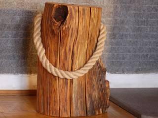 Hocker oder Beistelltisch Holz mit Tragegriff Schöner Wohnen mit Holz WohnzimmerHocker und Stühle