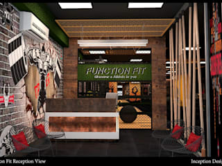 Function Fit (Gym) Rustic style gym by Inception Design Cell Rustic