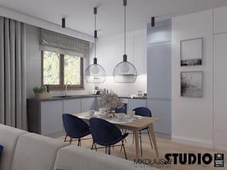 Dining room by MIKOŁAJSKAstudio , Scandinavian