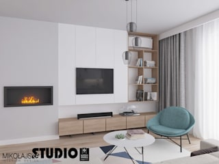 Living room by MIKOŁAJSKAstudio , Scandinavian
