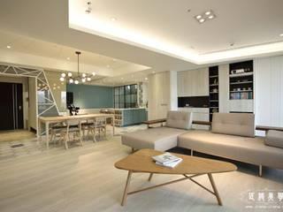 北歐混合美式    整體風格主軸:  客廳 by 匠將室內裝修設計股份有限公司, 北歐風