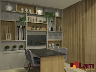 Study/office by LAM Arquitetura | Interiores, Modern
