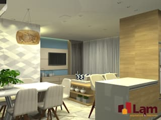 Modern dining room by LAM Arquitetura | Interiores Modern