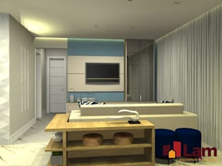 Living room by LAM Arquitetura | Interiores, Modern