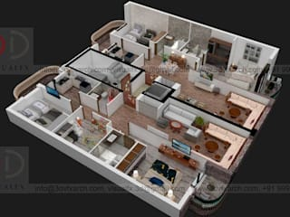 3D Floor Plan Rendering: modern  by 3D VisualFx,Modern