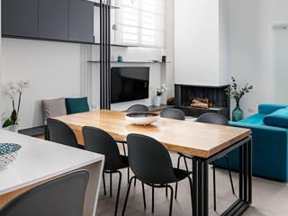 manuarino architettura design comunicazione Mediterranean style dining room Wood Blue