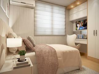 Laura Santa Maria Arquitetura Small bedroom