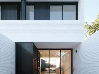 HAUS-3 - Arq. Pedro Martorana Casas modernas: Ideas, imágenes y decoración de SF Render Moderno