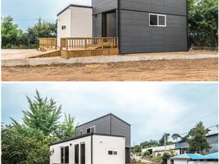 Casas de campo de estilo  por 공간제작소(주), Minimalista