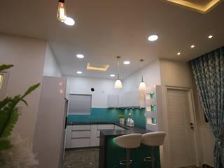Modern Elegant White Modular Kitchen by Enrich Interiors & Decors Modern