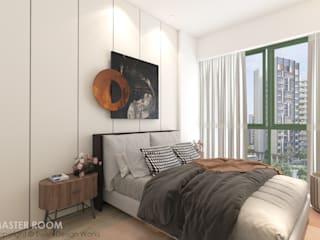 Swish Design Works Camera da letto moderna Compensato Bianco