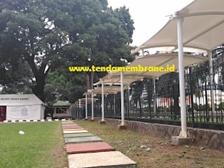 Fortuna Jaya Kreasi Tropical style office buildings Wood-Plastic Composite White