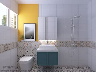 Swish Design Works Bagno moderno Variopinto