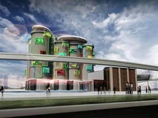 【都市設計】四川角色扮演遊戲園區設計:  飯店 by 亚卡默设计 Akuma Design , 現代風