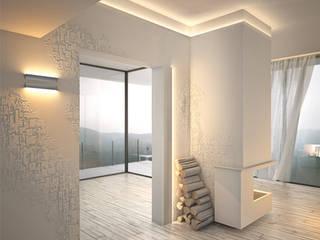 Veletta per illuminazione led a parete EL402 Soggiorno moderno di Eleni Lighting Moderno