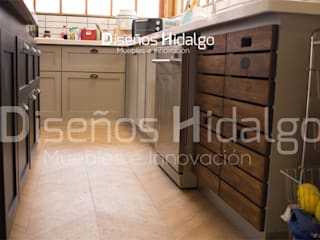 MUEBLES DE COCINA - CASA FERNANDEZ:  de estilo industrial por Diseños Hidalgo, Industrial
