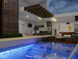 Residência RM por MJR Arquitetura e Engenharia Moderno