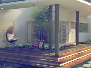 A.M.I.E.L Tropical style houses by ar.silpa shaiju Tropical