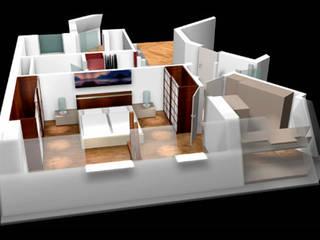 Dachgeschossausbau in Barmbek von eichhorn-design Asiatisch