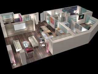 Neubau Privatwohnung in Ottensen Moderne Wohnzimmer von eichhorn-design Modern
