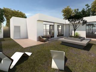 CASA EN EL CAMPO GC Balcones y terrazas modernos de CREAT ARQUITECTURA Moderno