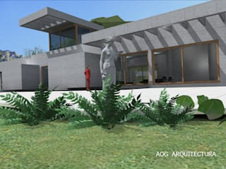 Prefabricated home by AOG, Mediterranean