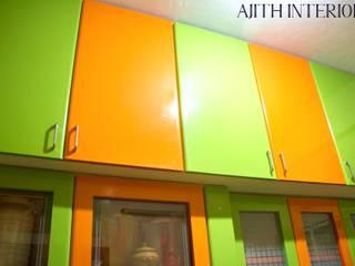 A colorful apartment at Madipakkam: modern  by Ajith interiors,Modern