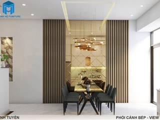 Thiết kế nội thất trọn gói nhà phố 3 thế hệ - 3 phòng ngủ (Anh Tuyền - Q.12) Phòng ăn phong cách hiện đại bởi Công ty TNHH Nội Thất Mạnh Hệ Hiện đại