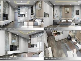 Thiết kế nội thất trọn gói nhà phố 3 thế hệ - 3 phòng ngủ (Anh Tuyền - Q.12) Phòng ngủ phong cách hiện đại bởi Công ty TNHH Nội Thất Mạnh Hệ Hiện đại
