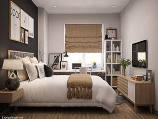 Thiết kế căn hộ 90m2 3 phòng ngủ: hiện đại  by Lio Decor, Hiện đại