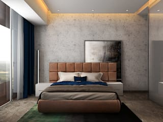 Ashleys Modern style bedroom Grey