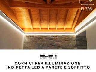 EL706 - Cornice per illuminazione led doppia a soffitto e lungo la parete Soggiorno in stile rustico di Eleni Lighting Rustico