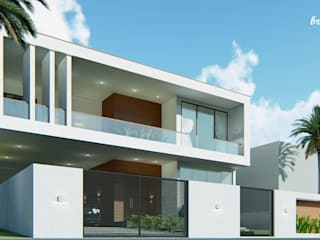 Bristan Architects - Residence @Nagercoil by BRISTAN ARCHITECTS & INTERIOR DESIGNERS Minimalist