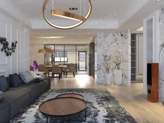 住家空間 现代客厅設計點子、靈感 & 圖片 根據 歐居室內設計有限公司 現代風