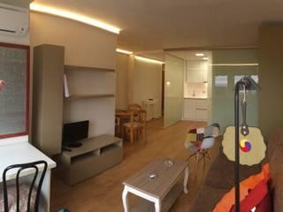Reforma integral de Estudio en Arguelles Salones de estilo moderno de Arquide Estudio, reforma y rehabilitación en Madrid Moderno