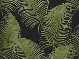 Botanical Wallpaper: Pareti in stile  di Carta da parati degli anni 70, Tropicale