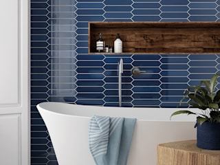 Equipe Ceramicas Modern bathroom Tiles Blue